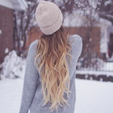 Blonde Girl in the Snow